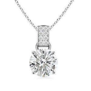 Jewelry - 1.65 Carats Round Solitaire Diamond Pendant White